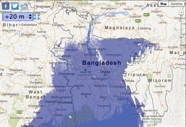 Bangladesh With 20M Sea Level Increase