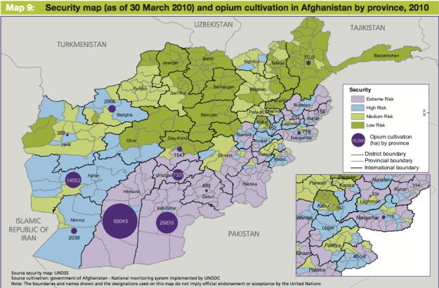Afghanistan Opium Prodution